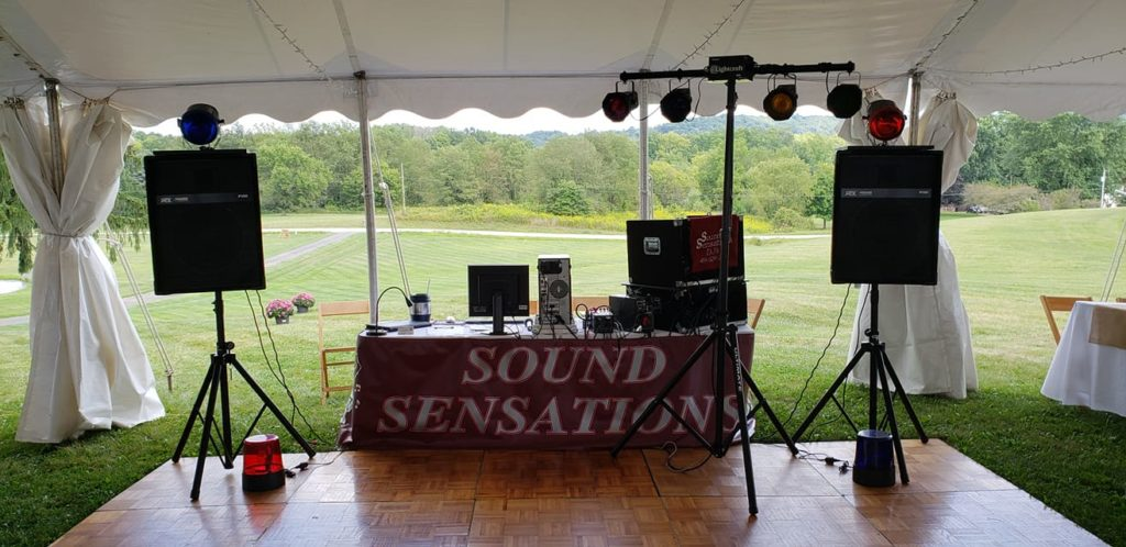 Sound Sensations DJ Service of Mansfield, Ohio. DJ for Weddings, Class Reunions, Company Christmas Parties. Also available for School Proms, Homecoming Dances, Graduation Parties, Anniversary Parties.